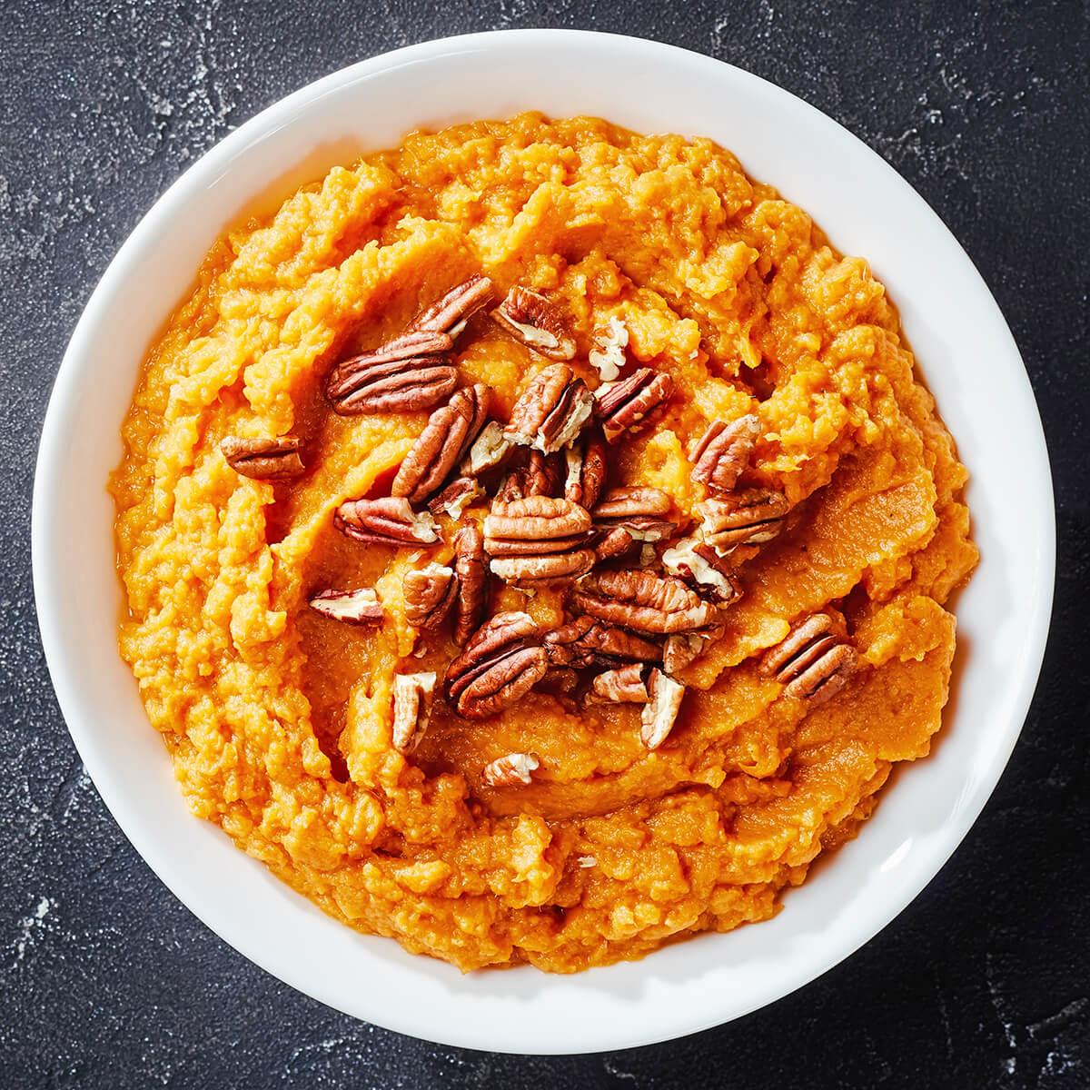 sweet potato mash is one of the 21 Best Vegan Christmas Dinner Recipes