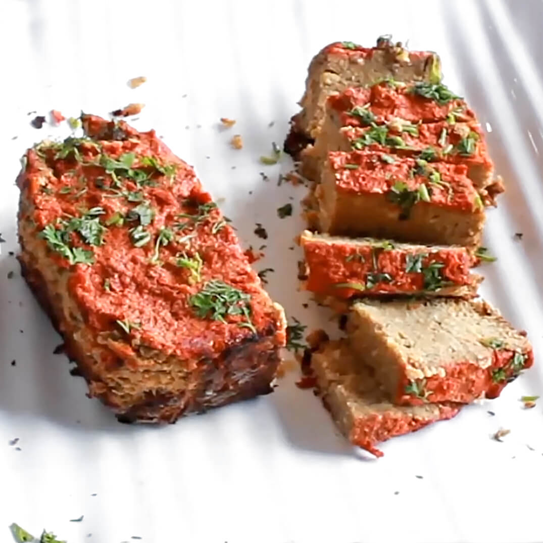 Quick, Easy, Chickpea Meatloaf