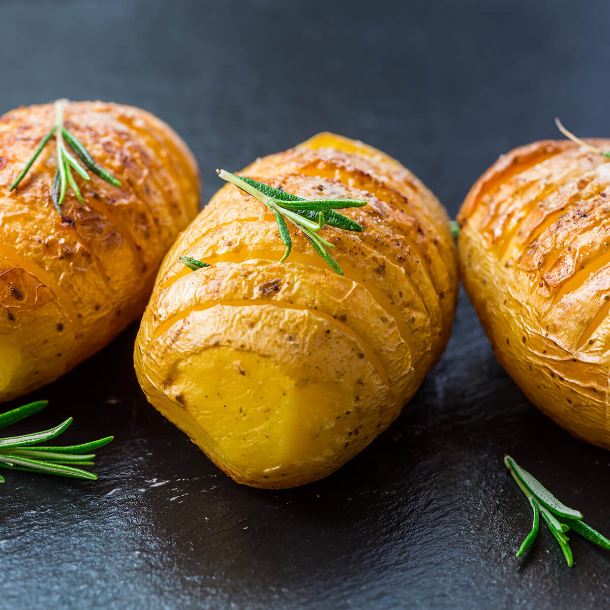 hasselback potatoes are one of the 21 Best Vegan Christmas Dinner Recipes